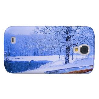 Canoe in Snow Galaxy S4 Case