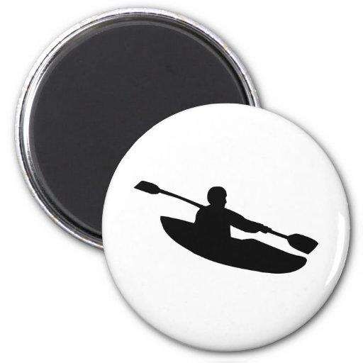 Canoe - Kayak 2 Inch Round Magnet