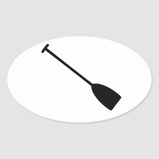 Canoe Kayak Paddle Oval Sticker