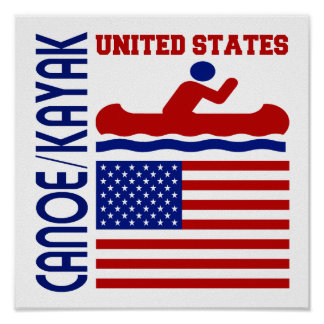Canoe / Kayak United States Poster