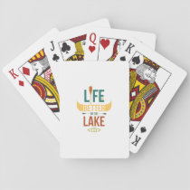 Canoe Life is better on the lake Canoeing Gift Playing Cards