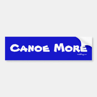 CANOE MÁS pegatina para el parachoques Etiqueta De Parachoque