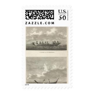 Canoe of Tchotka Canoe of Easter Island Postage