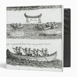 Canoe of the Iroquois 3 Ring Binder