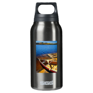 Canoe on shore thermos water bottle