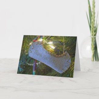 Canoe Ornament Thank You Card card