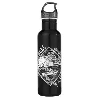 Canoe, Paddle Faster, Skeleton Stainless Steel Water Bottle