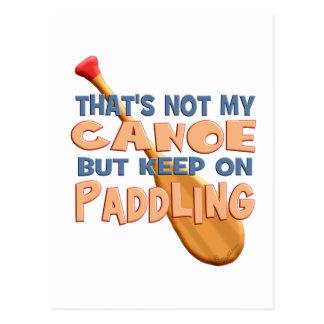 Canoe Paddling Postcard
