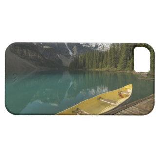 Canoe parked at a dock along Moraine Lake, Banff iPhone SE/5/5s Case