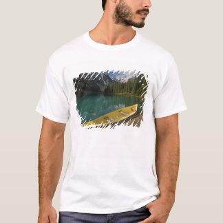 Canoe parked at a dock along Moraine Lake, Banff T-Shirt