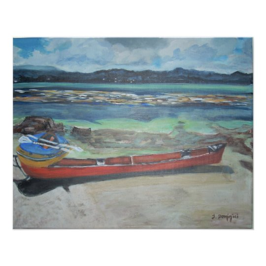 Canoe & Raft on Shell Island Poster