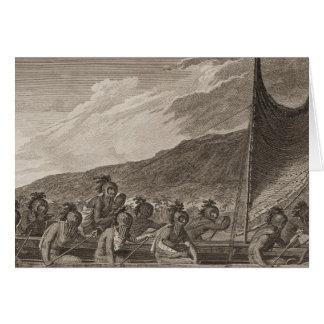 Canoe, Sandwich Islands Card