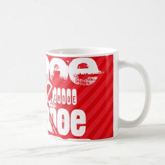 Canoe; Scarlet Red Stripes Coffee Mug