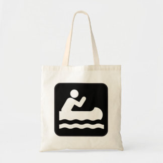 Canoe Sign Tote Bags