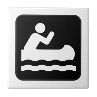 Canoe Sign Tile