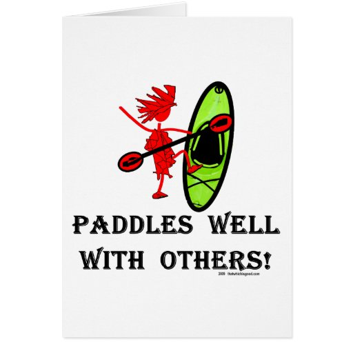 Canoe Slalom - Paddles Well With Others Card