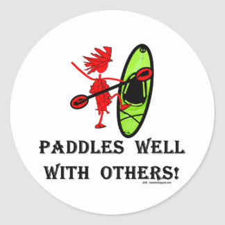 Canoe Slalom - Paddles Well With Others Classic Round Sticker