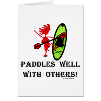 Canoe Slalom - Paddles Well With Others Greeting Card