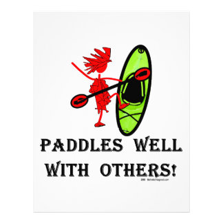 Canoe Slalom - Paddles Well With Others Customized Letterhead