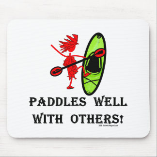 Canoe Slalom - Paddles Well With Others Mouse Pad