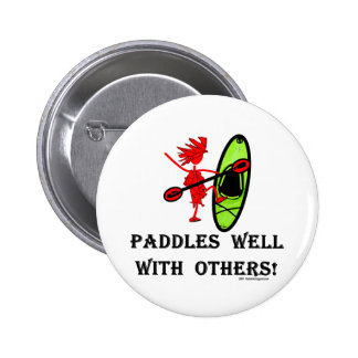 Canoe Slalom - Paddles Well With Others Pins