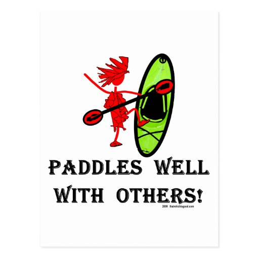 Canoe Slalom - Paddles Well With Others Postcard