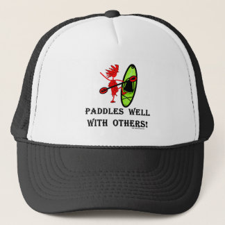 Canoe Slalom - Paddles Well With Others Trucker Hat