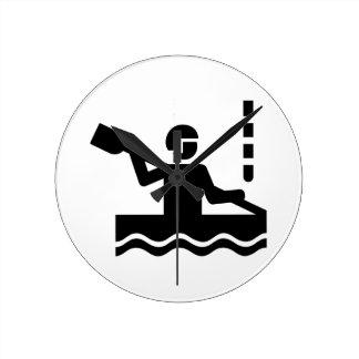 Canoe slalom round clock