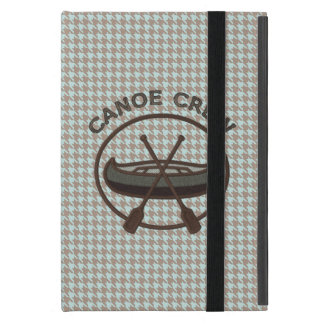 Canoe Sports Logo on Herringbone iPad Mini Case