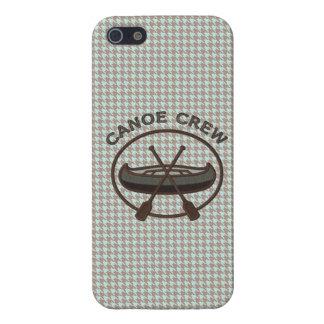 Canoe Sports Logo on Herringbone iPhone 5 Cover