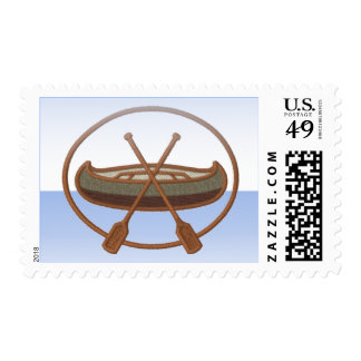 Canoe Trip Postage Stamp