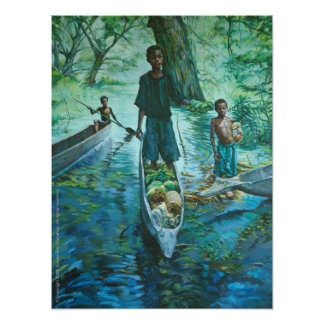 Canoe Vendors Posters