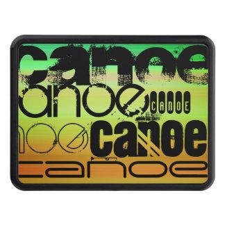 Canoe; Vibrant Green, Orange, & Yellow Trailer Hitch Cover