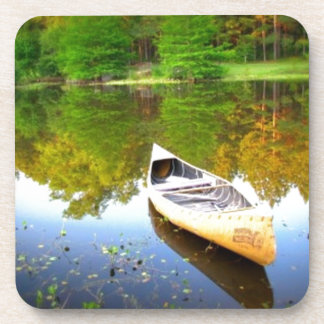 Canoe water nature design drink coaster