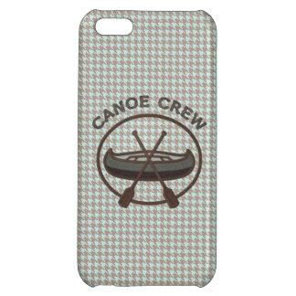 Canoe Water Sports Logo on Herringbone With Oars iPhone 5C Case