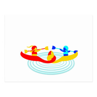 canoedling canoers postcard