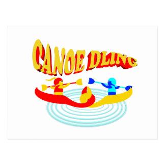 canoedling canoes postcard
