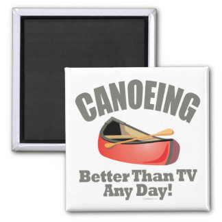 Canoeing 2 Inch Square Magnet