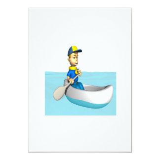 "Canoeing 2 5"" x 7"" invitation card"