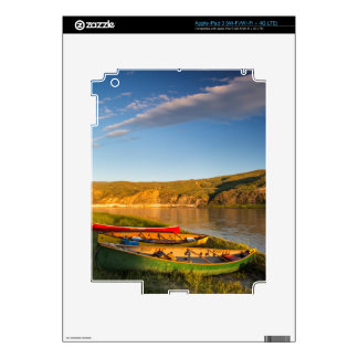 Canoeing Along The White Cliffs Of Missouri iPad 3 Decal