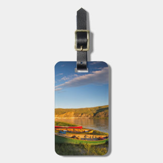 Canoeing Along The White Cliffs Of Missouri Luggage Tag