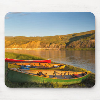 Canoeing Along The White Cliffs Of Missouri Mouse Pad