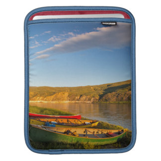 Canoeing Along The White Cliffs Of Missouri Sleeve For iPads