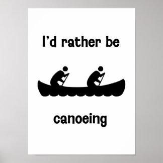 Canoeing bastante poster
