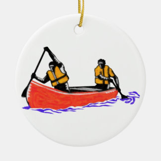 Canoeing Ceramic Ornament