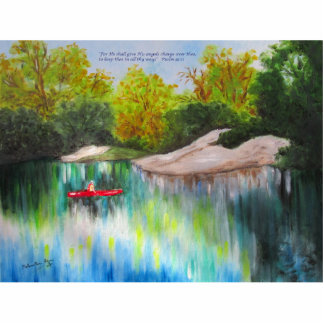 Canoeing Down the Withlacoochee River Acrylic Cut Outs