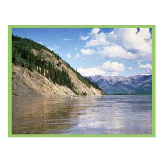 Canoeing el río Yukón Postal