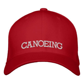 Canoeing Embroidered Baseball Cap