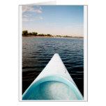 canoeing greeting card