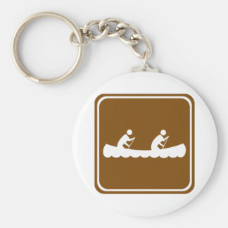 Canoeing Highway Sign Keychain